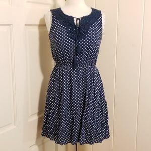 Navy/White Polka Dot Dress - NWT